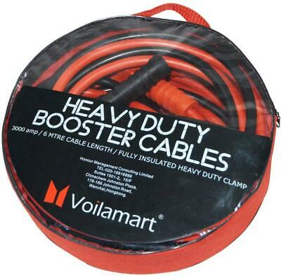 Voilamart Heavy Duty 3000AMP 6M Car Battery Jump Leads Booster Cables Jumper ...