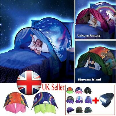 Dream Tent With Light Set Unicorn Space Dinosaur Foldable Tents Pop Up Bed Gift
