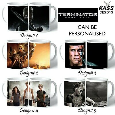 Personalised Mug TERMINATOR DARK FATE Name Text Cup Fun Movie Family Ideal Gift
