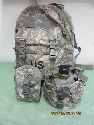 US Army Military ACU 3 Day Assault Back Pack & New Canteen w/ Pouch & IFAK