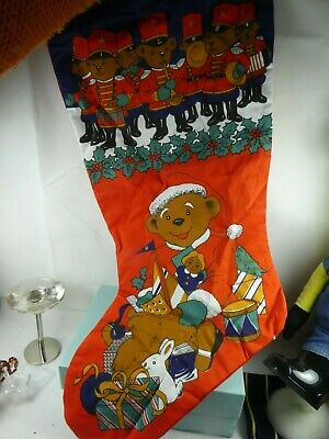 Traditional Father Christmas Stocking large gift vintage style sack present
