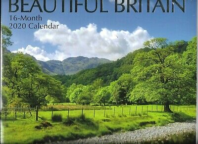 Britain Wall Calender 16 Months To View Sealed Space For Writing 16 Month