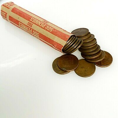 1940s 1950s 10 Rolls One Cent Lincoln Wheat Wheaties Coins Pennies Lot