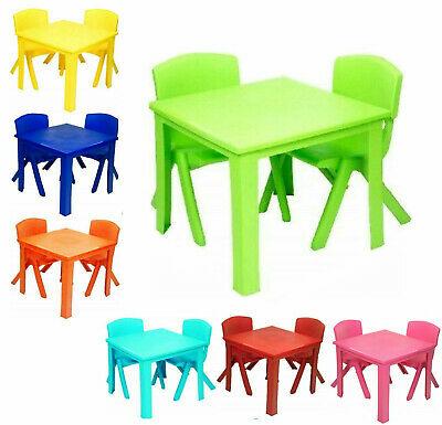 Toddlers Kids Chairs and Table set Strong Plastic study play table Study Garden