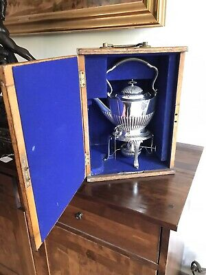 Antique Victorian Solid Silver Kettle &  Burner On Stand Sheff 1896 Mappin&webb