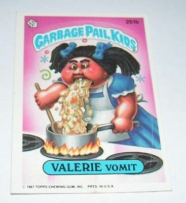 Garbage Pail Kids Calerie Vomit 1987 Topps Trading Card 251b
