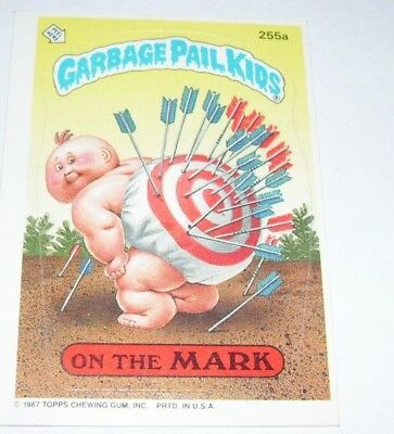 Garbage Pail Kids On the Mark 1987 Topps Trading Card 255a