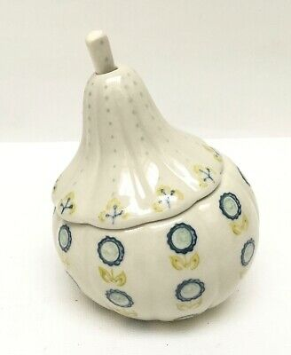 Anthropologie Thanksgiving Gourd Covered Sugar Bowl with Spoon Jam Condiments
