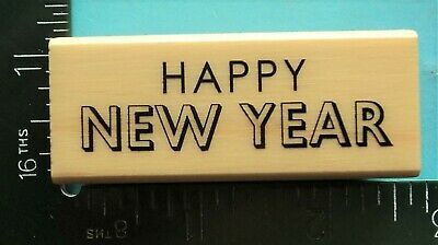 Happy New Year Rubber Stamp G19812 WM