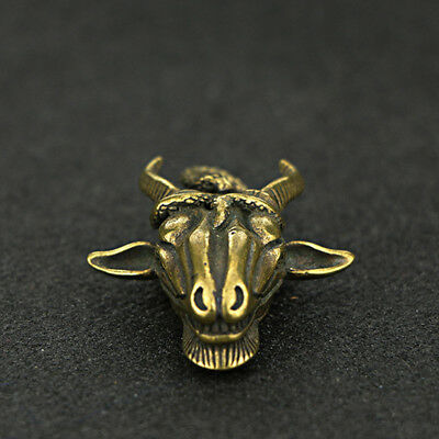 China Antique Collection Brass Snake Disk Sheep Head Pendant Accessories a588