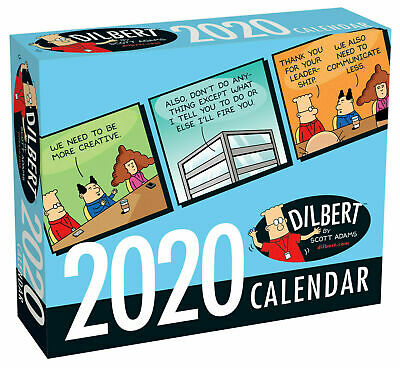 Dilbert 2020 Day-to-Day Boxed Calendar Fast Postage Andrew Mcmeel