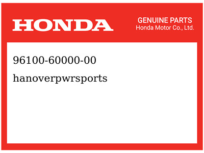Part Honda 96100-62033-00 Bearing Genuine Original Equipment Manufacturer OEM