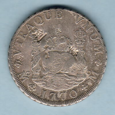 Mexico. 1770-MF 8 Reales - Pillar Dollar..  VF - various old chopmarks