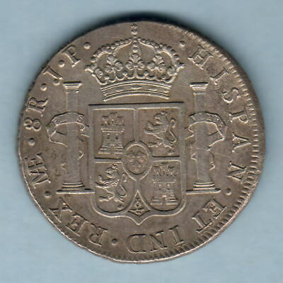 Peru.  1810-JP 8 Reales.. Lima Mint.. Much Lustre - EF/gEF..  Imaginary Bust