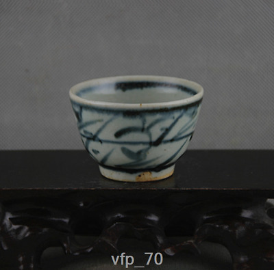 Ancient China sign the Qing dynasty Kungfu Online Blue and white cup Wine Glass