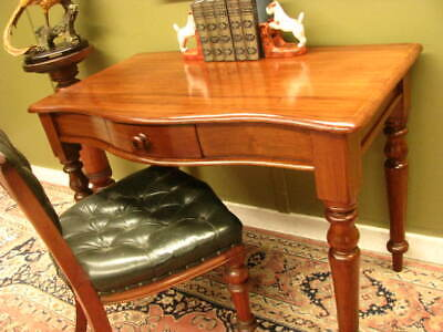 ANTIQUE AUSTRALIAN CEDAR 1 DRAWER DESK / HALL or SIDE TABLE ~ COMPACT SIZE 1870
