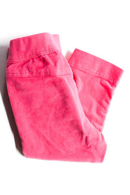 Il Gufo Girls Baby Velour Pants Elastic Waist Hot Pink Cotton Size 12M