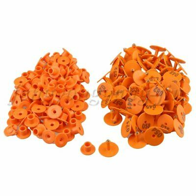 100pcs Orange Goat Sheep Pig Cattle Beef Plastic Livestock Ear Tag Number Tags