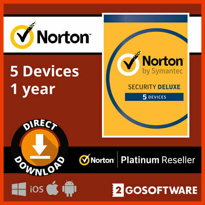 Norton Security Deluxe 2020 5 Devices 12 Months License Code Key Email Delivery