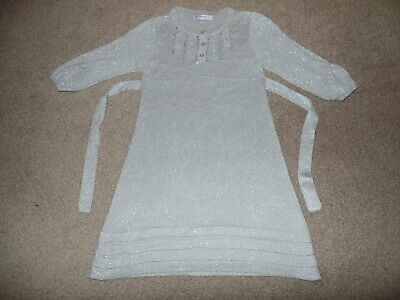 Girls Gorgeous Silver Party/Christmas Dress Age 7-8 Years From Autograph At M&S