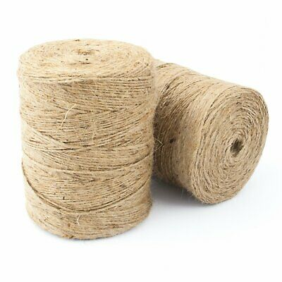 Natural Brown Soft Jute Twine Sisal String Rustic Shabby Cord 2Ply 1m-1000m