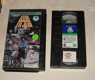 VHS TAPE in CLAM SHELL CASE FROM STAR WARS to JEDI MAKING of a SAGA DOCUMENTARY