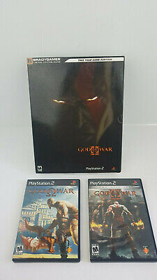 God of War 1 & 2 Lot PS2 Sony Playstation 2 Complete w/ Limited Edition Guide