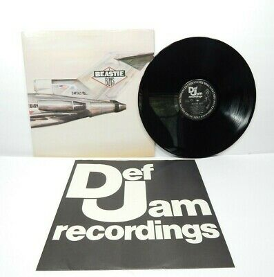 BEASTIE BOYS - LICENSED TO ILL LP Promo Gold Label VG