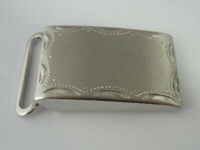 Stunning Vintage American Sterling Silver Belt Buckle By Anson