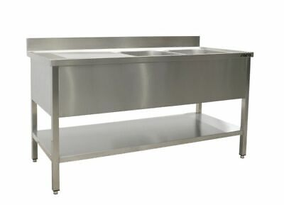 Saro Sink with 2 Sink, Right - 700 mm Depth, 1800mm