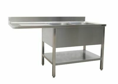 Saro Washing Station with 2 Sink, Right - 600 mm Depth, 1600mm