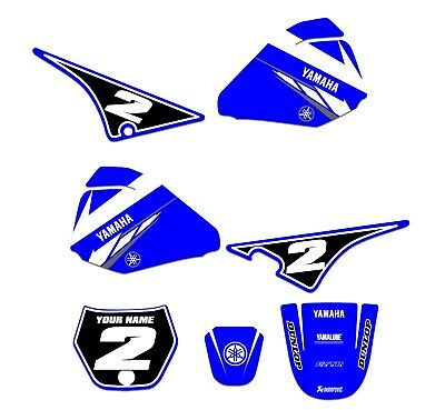Yamaha PW 80 Graphics kit Fits Years 1983 - 2020  PW80 DECO STICKERS DECALS BLUE