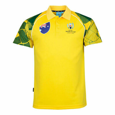 Mens Rugby World Cup 2019 Shirt Suitable For Australia Home Shirt 2019/20 S-3XL