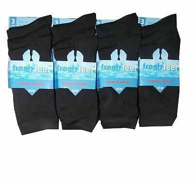3/6/12 Pairs Cotton Rich Boys Girls Kids Soft Luxury Comfortable School Socks