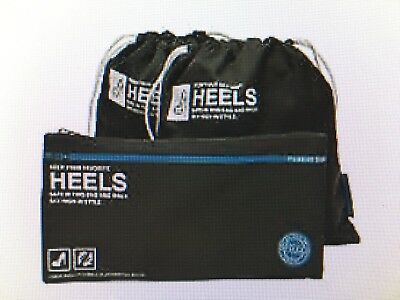 Flight 001 Go Clean Heels Bag Charcoal Set of 2 Travel Bags for your Shoes/Boots