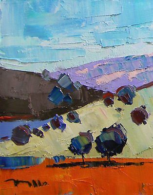 JOSE TRUJILLO Abstract IMPRESSIONIST SIGNED Contemporary Landscape MODERN COLORS
