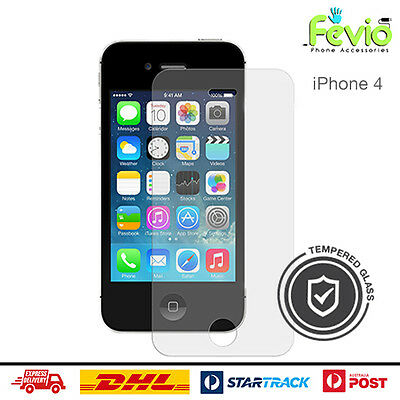 Fevio Clear Tempered Glass Screen Proctector Made For Apple iPhone 4