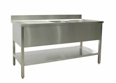 Saro Sink with 2 Sink, Right - 600 mm Depth, 1800mm