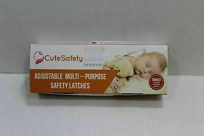 cute safety adjustable multi- purpose safety latches with bonus 6 extra adhesive