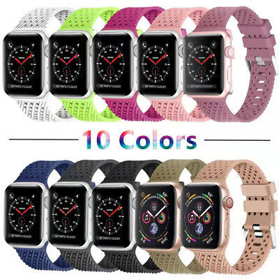 For Apple Watch Series 5/4/3/2 Replacement Silicone Soft Sport iWatch Band Strap