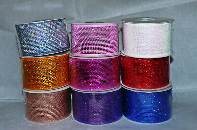 Deco Mesh Net Metallic Colour Ribbon # 63Mm #Crafts/Cake/Floral