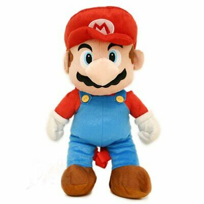 """Super Mario MARIO 18"""" Soft Plush Doll Backpack. Authentic Brand New."""