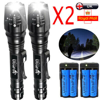 1000000LM T6 LED Rechargeable High Power Torch Flashlight Lamps Light+Charger ^