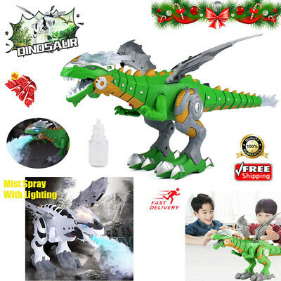 UK Walking Dragon Toy Fire Breathing Water Spray Dinosaur Christmas Gift Kids