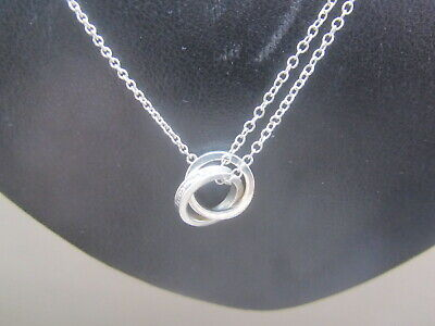 Vgc Tiffany & Co 1837 925 Silver Interlocking Circles Pendant