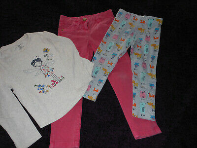 Next Girls set of clothes, long sleeves top,jeans and leggings, 4-5 years.Used.