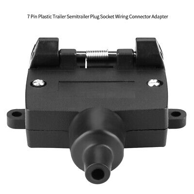 7 Pin Plastic Trailer Semitrailer Plug Socket Wiring Connector Adapter SN