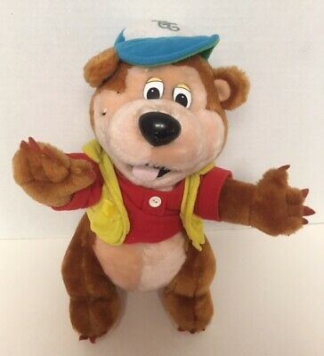 "Thousand Trails BUDDY BEAR Advertising Mascot 12"" Plush Vintage Stuffed Toy D5"