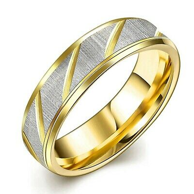 SAINTHERO Mens Womens Classic 6MM Wedding Bands 316L Titanium Stainless S... New