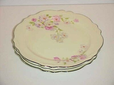 Homer Laughlin China Fluffy Rose 1 VR128 Pattern Luncheon Plate set